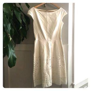 Lela Rose Dresses - Lela Rose Cotton Ivory Fit and Flare
